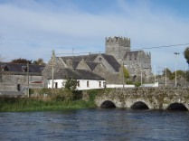 View of Holycross Abbey from across the river