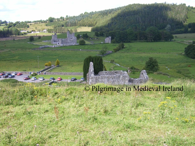 View of benedictine Priory in the valley floor