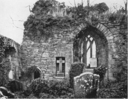 Image of east wall of church taken in 1938