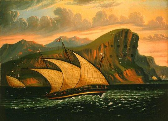 1850 - Felucca off Gibraltar