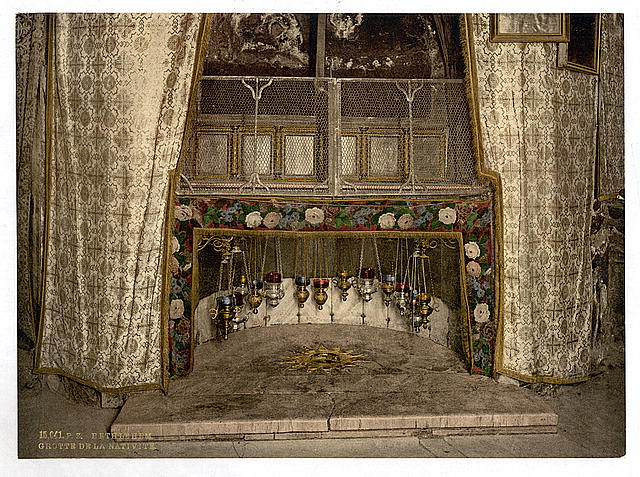 Grotto of the Nativity under the Church of the Nativity takenca. 1890 and ca. 1900 (Library of Congress)