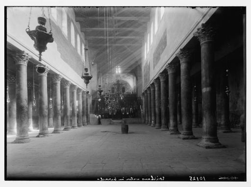 Interior of the Church of the Nativity 1930's  (Library of Congress)
