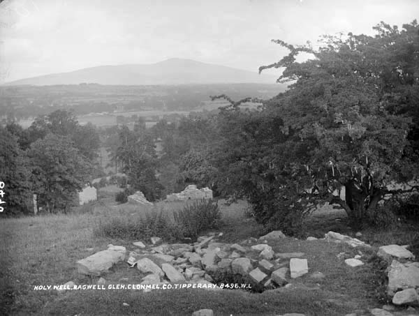 French, R., & Lawrence, W. (. M.. (18651914). Holy Well, Ragwell Glen, Clonmel, Co. Tipperary. http://catalogue.nli.ie/Record/vtls000319096
