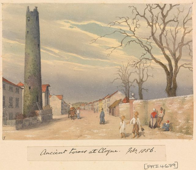 Edward_Gennys_Fanshawe,_Ancient_tower_at_Cloyne,_Feby_1856_(Ireland)