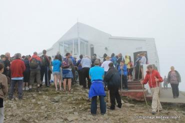Pilgrims on the summit of Croagh Patrick 2014