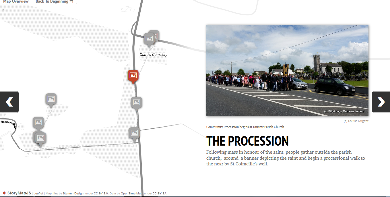 Thumbnail for The story of the 2014  Patten Day at Durrow through StorymapJS