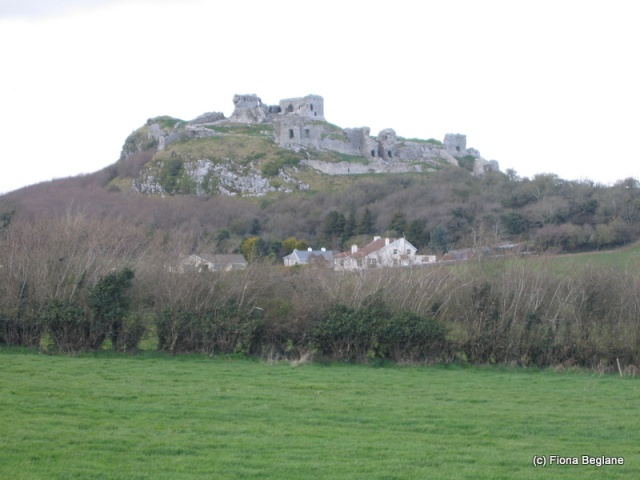The castle and park at Dunamase, Co. Laois