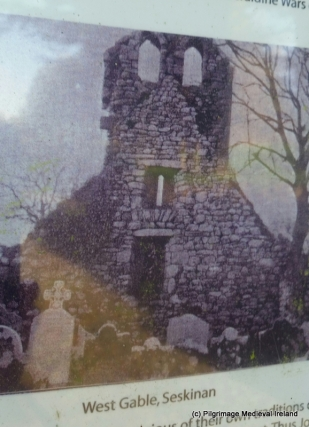 Old photo of the double belfry taken in the late 19th century