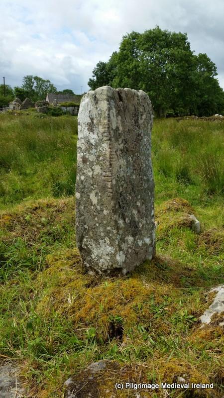 Ogham stone beside Tobar na Bachaile