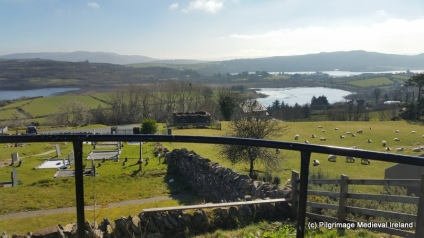 View of Lough Akibbon and Lough Gartan from the site