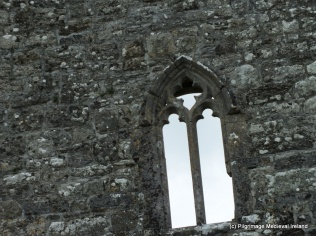 Window in west gable of Urlaur church