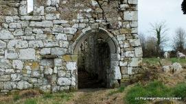 Doorway in west gable of church