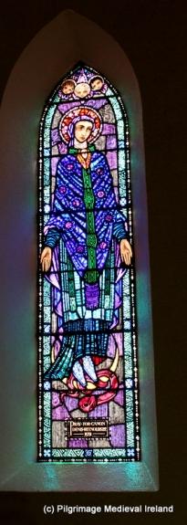Harry Clarke window of the Blessed Virgin