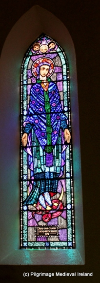 Harry Clarke window of the Blessed Virgin