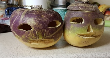 My attempt at carving Halloween turnips