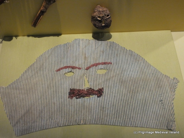 halloween masks called fiddle faces at the national museum of ireland