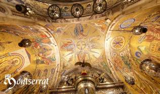 Ceiling of the shrine of Monserrat from http://www.montserratvisita.com/en/virtual