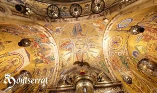 Ceiling of the shrine of Monserrat from http://www.montserratvisita.com/en/virtual
