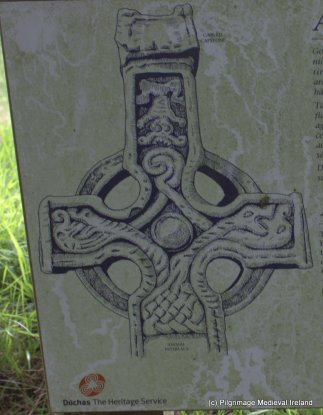 Drawing of decoration of the easern face of the high cross