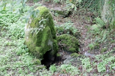 Bouder marking St Nicholas holy well at Killamery