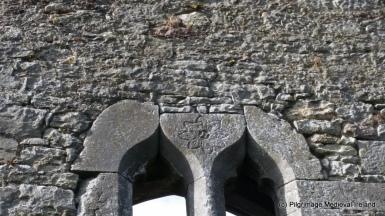 Interlace masons marks on window at St Mary's Church