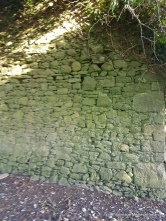 Part of the west wall at Baptistgrange church