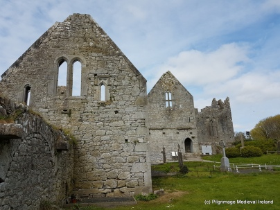 Refectory jutting out of the southeast corner of clositer at Askeaton Friary.