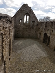 Interior of refectory at Akeaton Friary.