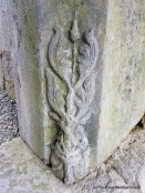 Finely carved decoration at the base of the doorway leading into the church at Askeaton Friary..