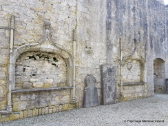 View of two of the tomb niches in the south wall of the friary church at Askeaton.