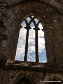 Window in the southeast corner of church at Askeaton Friary.