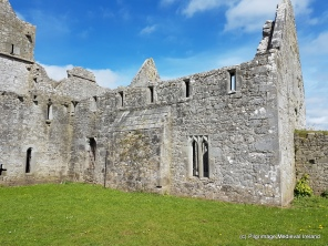 External west wall of refectory at Askeaton friary