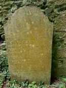 19th century gravemarker in Kilkea graveyard