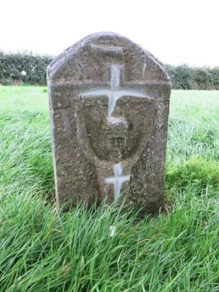 Carved stone depicting the crucifixion