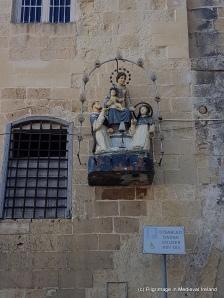 Malta, Valletta, Triq ir-Repubblika, Republic Street, religious sculpture