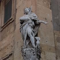 Christ Statue Sculpture Street Corner Valletta Malta