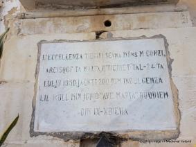 Plaque at Lvant Valletta