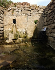 Interior of well house an early medieval baptisimal church at St Mullens Co Carlow